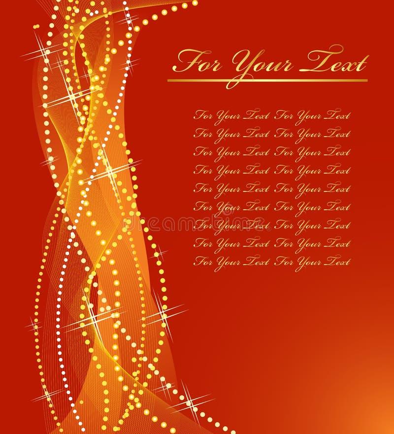 σχέδιο Χριστουγέννων χρυσό απεικόνιση αποθεμάτων