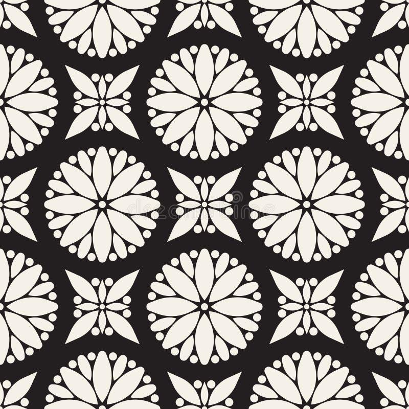 Σχέδιο χωρίς ραφή διανύσματος Μοντέρνα και κομψή αφηρημένη υφή Επανάληψη γεωμετρικών κύκλων και πλακιδίων αστέρων από διακοσμητικ ελεύθερη απεικόνιση δικαιώματος