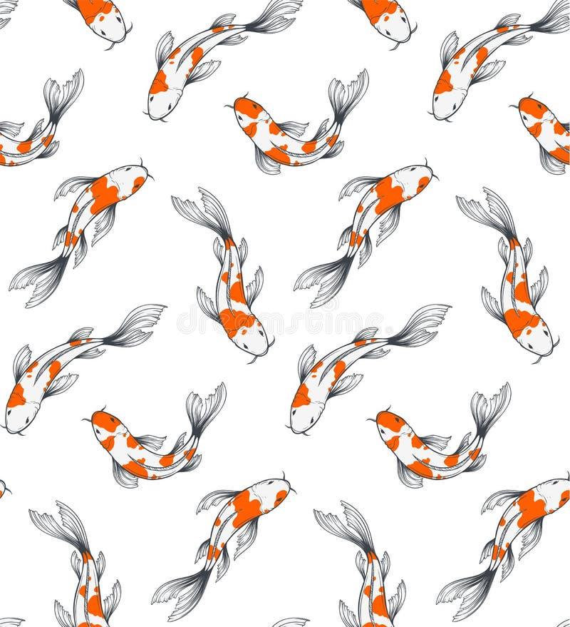 Σχέδιο ψαριών Koi διανυσματική απεικόνιση