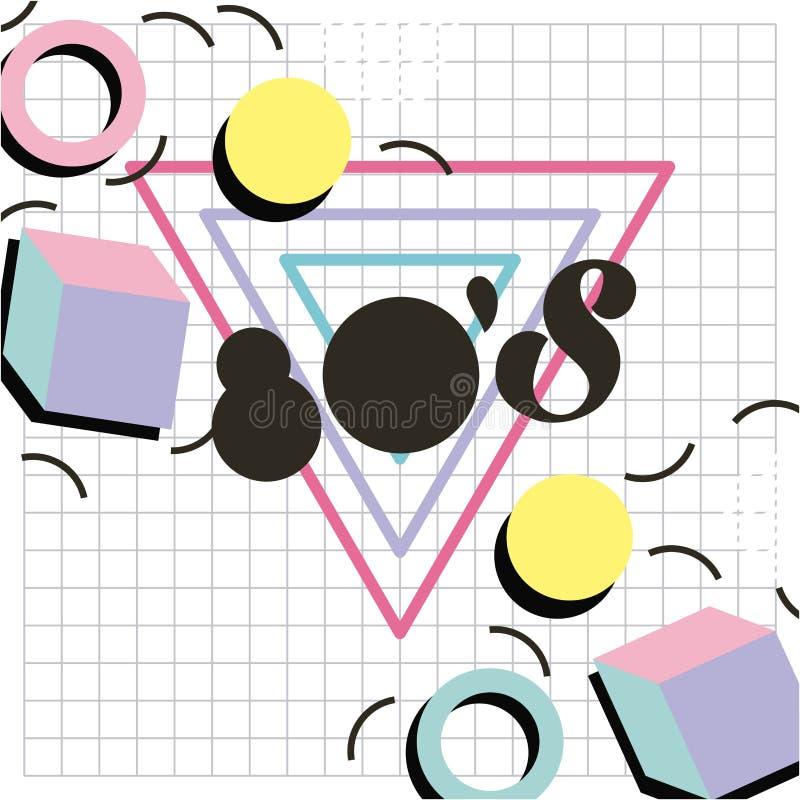 Σχέδιο 80 ύφους της Μέμφιδας γεωμετρική εικόνα πλέγματος μορφής σχεδίου ελεύθερη απεικόνιση δικαιώματος