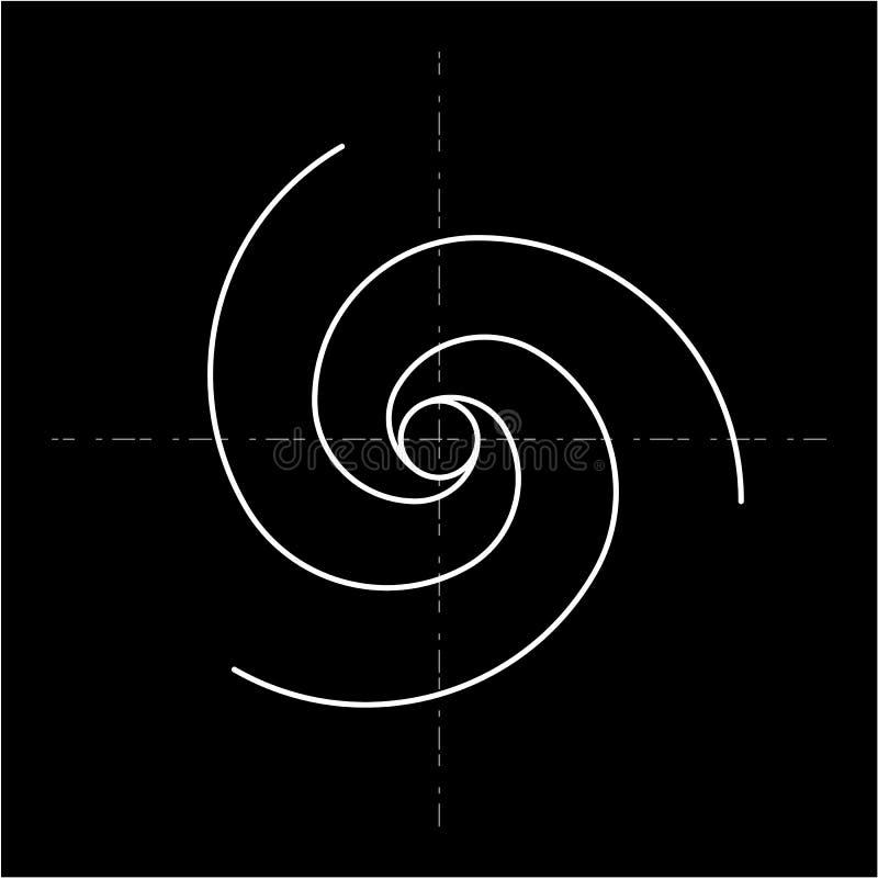 Σχέδιο ύφους Minimalistic χρυσή αναλογία γεωμετρικές μορφές Κύκλοι στη χρυσή αναλογία Φουτουριστικό σχέδιο ΛΟΓΟΤΥΠΟ διάνυσμα ελεύθερη απεικόνιση δικαιώματος