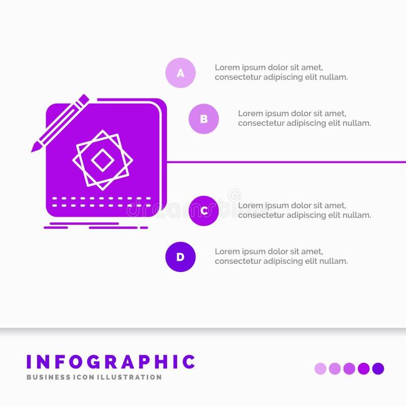 Σχέδιο, App, λογότυπο, εφαρμογή, πρότυπο Infographics σχεδίου για τον ιστοχώρο και παρουσίαση r ελεύθερη απεικόνιση δικαιώματος