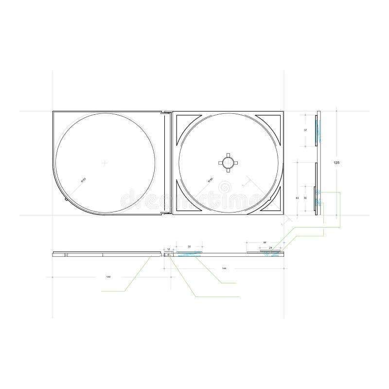 σχέδιο Cd υπόθεσης απεικόνιση αποθεμάτων