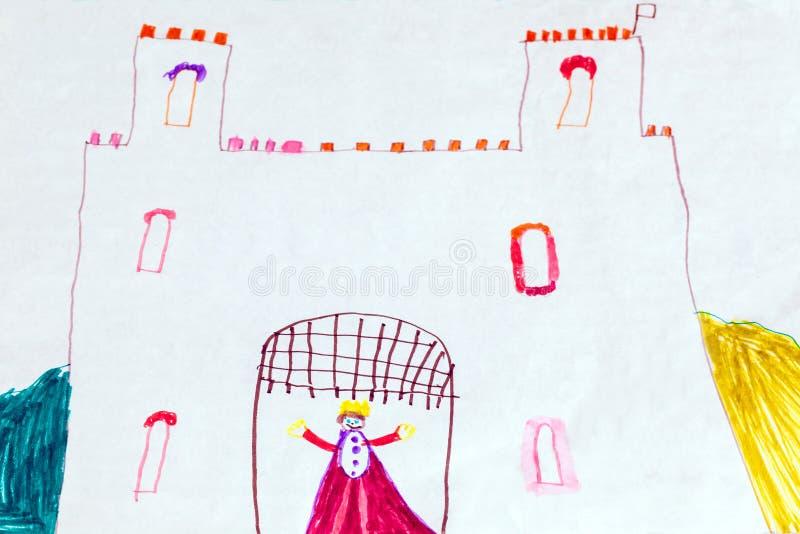 Σχέδιο Childs του βασιλιά και του κάστρου στοκ φωτογραφία