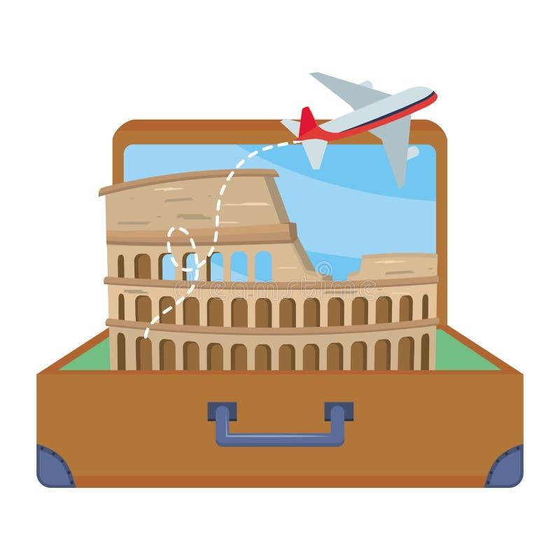 Σχέδιο coliseum της Ρώμης απεικόνιση αποθεμάτων