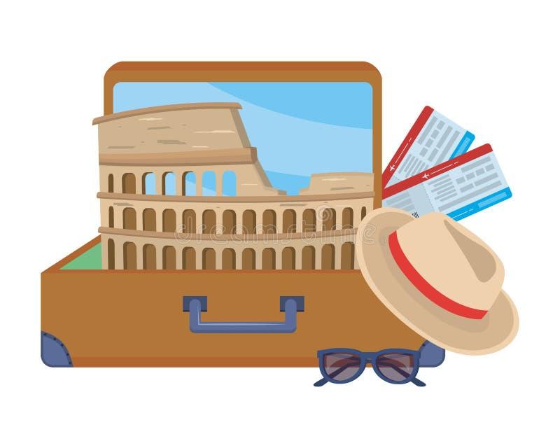 Σχέδιο coliseum της Ρώμης ελεύθερη απεικόνιση δικαιώματος