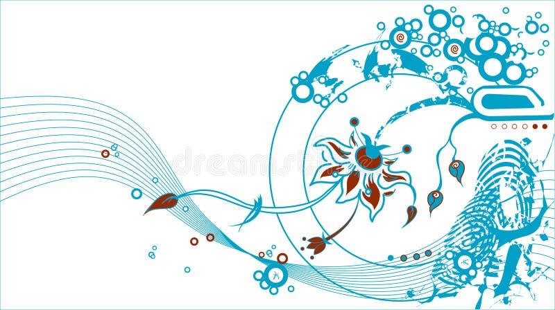 σχέδιο floral διανυσματική απεικόνιση