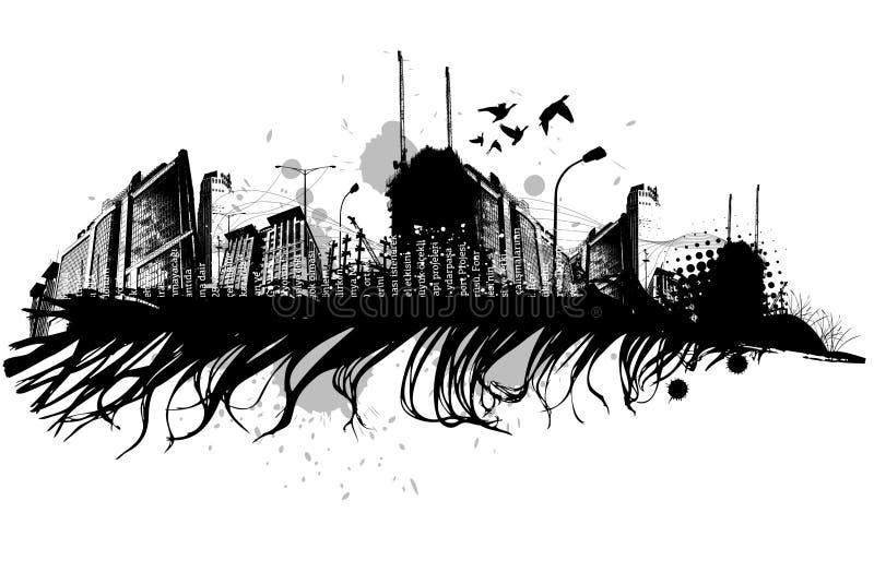 σχέδιο grunge αστικό διανυσματική απεικόνιση