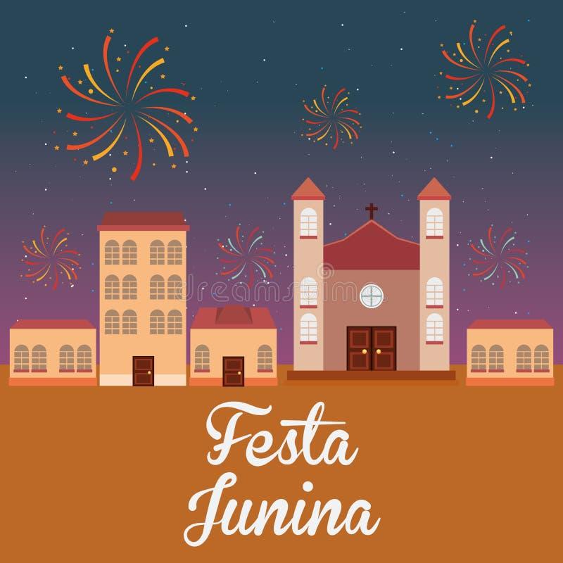 Σχέδιο Junina Festa διανυσματική απεικόνιση
