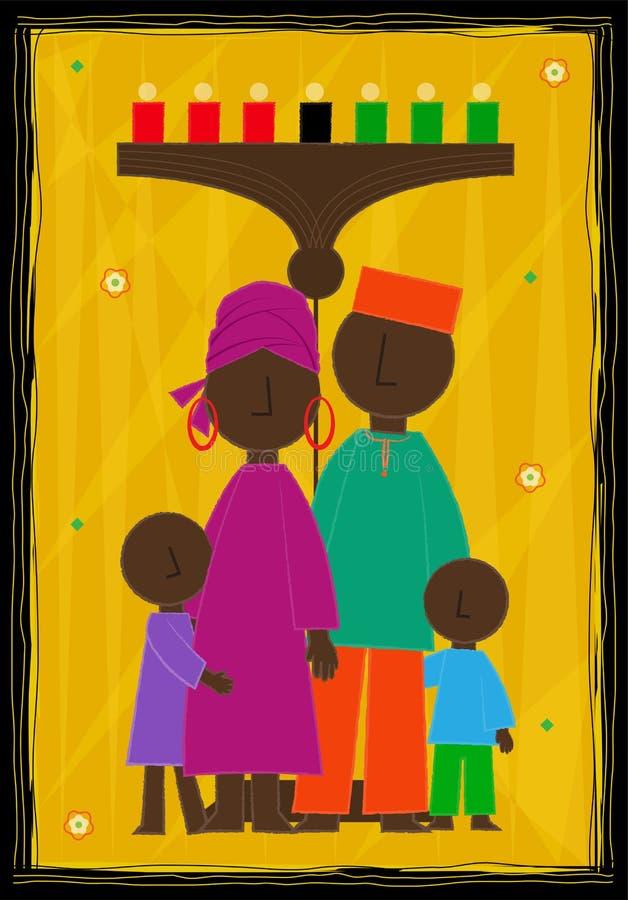 Σχέδιο Kwanzaa διανυσματική απεικόνιση