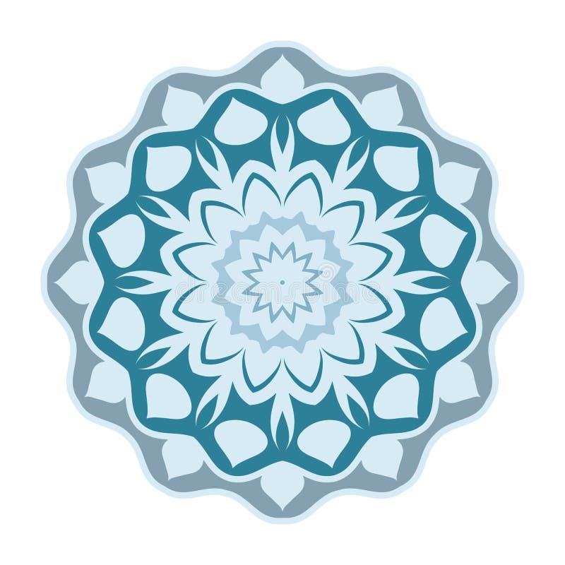 Σχέδιο Mandala, εκλεκτής ποιότητας διακοσμητικά στοιχεία, διακοσμητικό υπόβαθρο doodle διανυσματική απεικόνιση