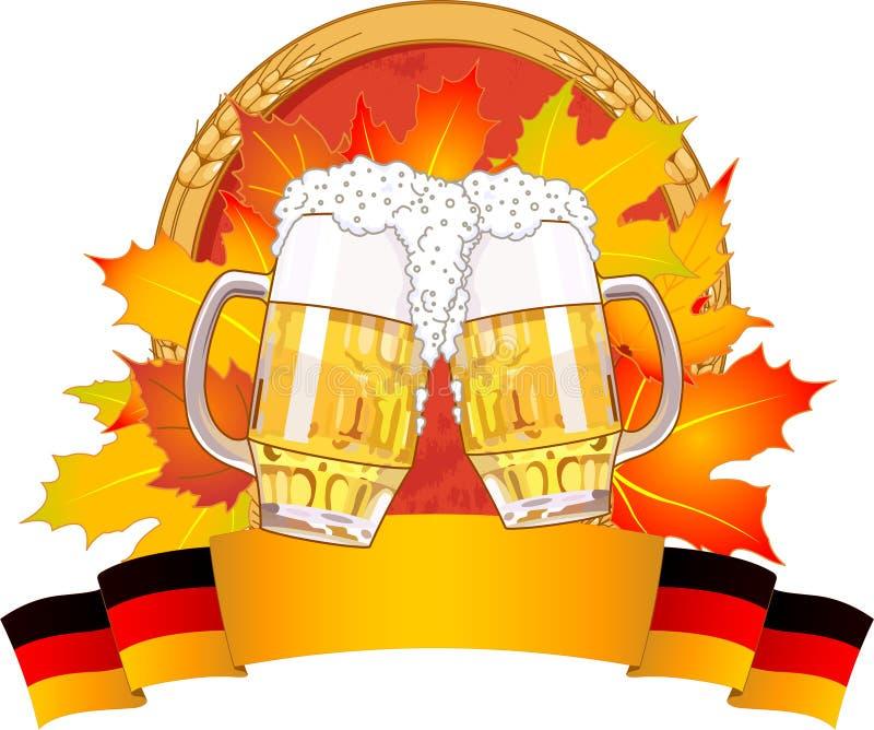 Σχέδιο Oktoberfest διανυσματική απεικόνιση
