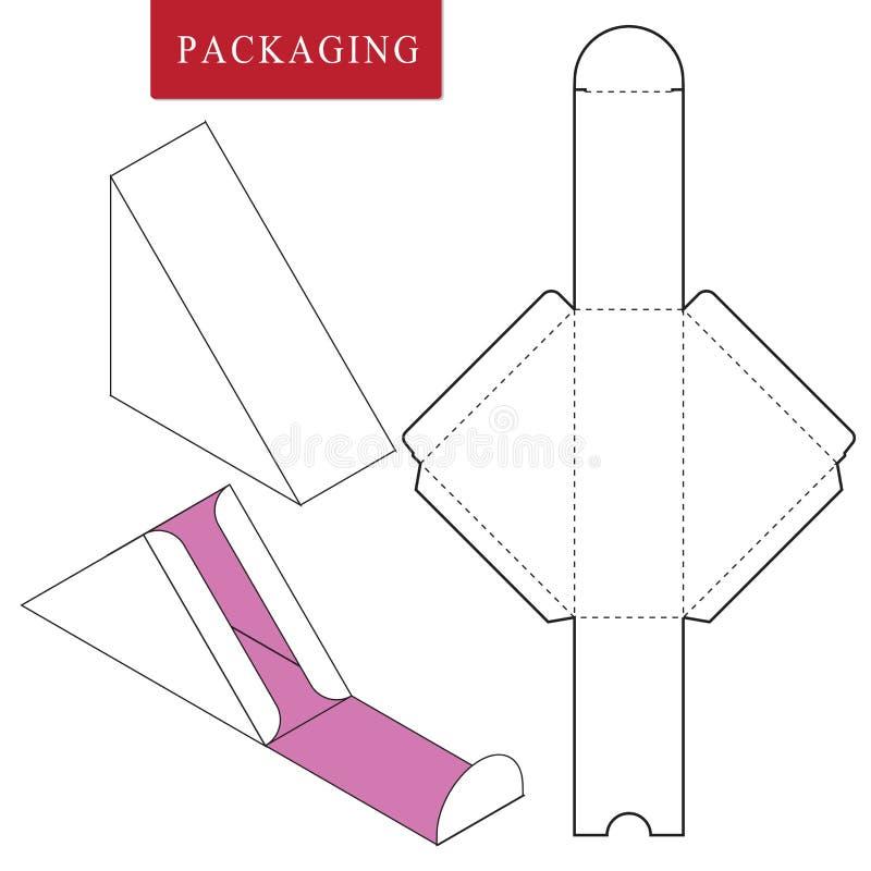 Σχέδιο Pakaging για τα τρόφιμα Διανυσματική απεικόνιση του κιβωτίου Πρότυπο συσκευασίας απεικόνιση αποθεμάτων