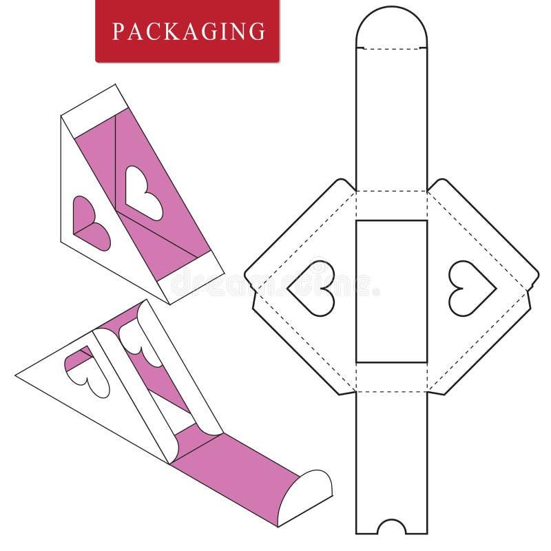 Σχέδιο Pakaging για τα τρόφιμα Διανυσματική απεικόνιση του κιβωτίου Πρότυπο συσκευασίας ελεύθερη απεικόνιση δικαιώματος
