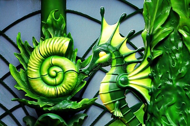 σχέδιο seahorse στοκ εικόνες με δικαίωμα ελεύθερης χρήσης