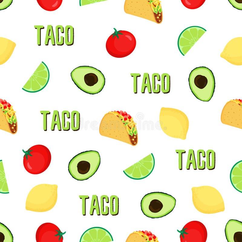 Σχέδιο taco Seampless ελεύθερη απεικόνιση δικαιώματος