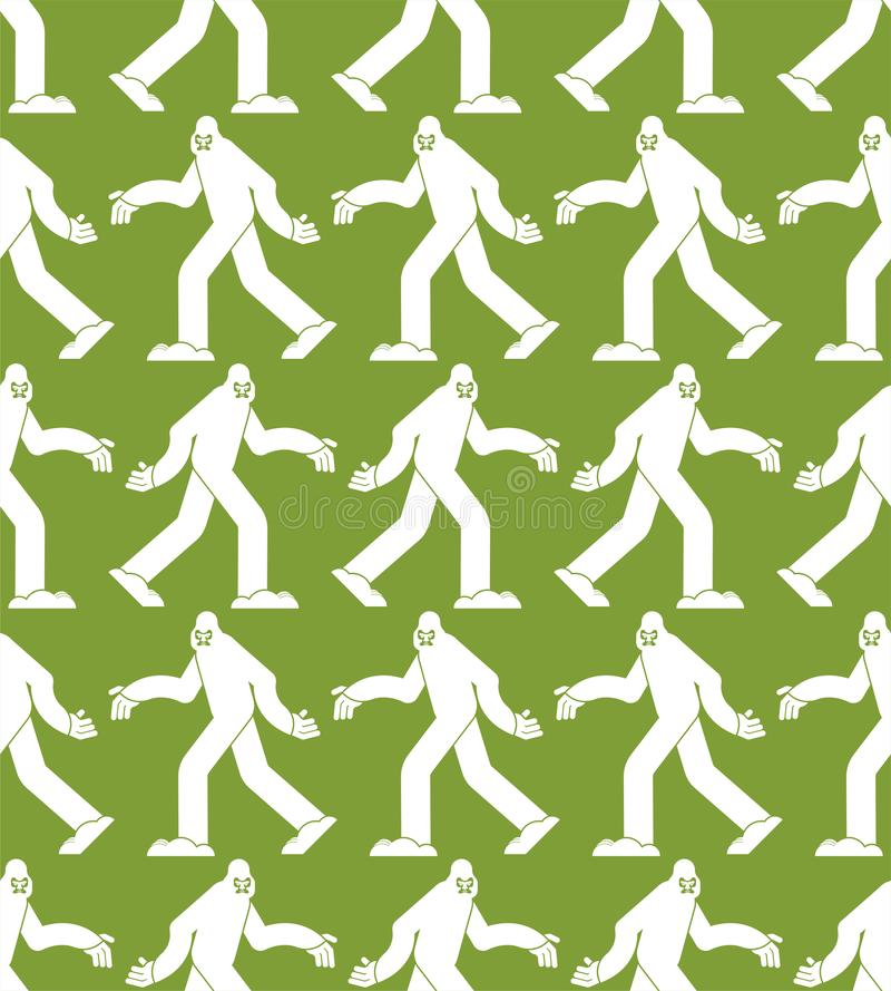 Σχέδιο Yeti άνευ ραφής Υπόβαθρο Bigfoot Αποτρόπαια διακόσμηση χιονανθρώπων sasquatch σύσταση ελεύθερη απεικόνιση δικαιώματος
