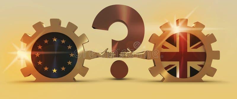 Σχέσεις της Ευρωπαϊκής Ένωσης της Μεγάλης Βρετανίας και Μεταφορά Brexit στοκ φωτογραφίες