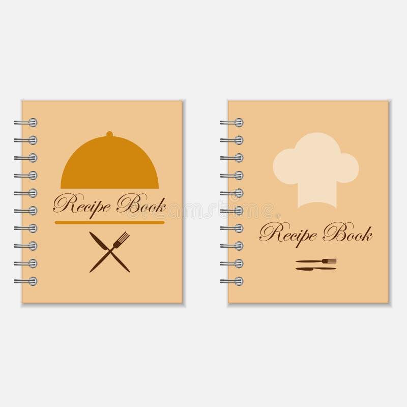 Σχέδια βιβλίων συνταγής διανυσματική απεικόνιση