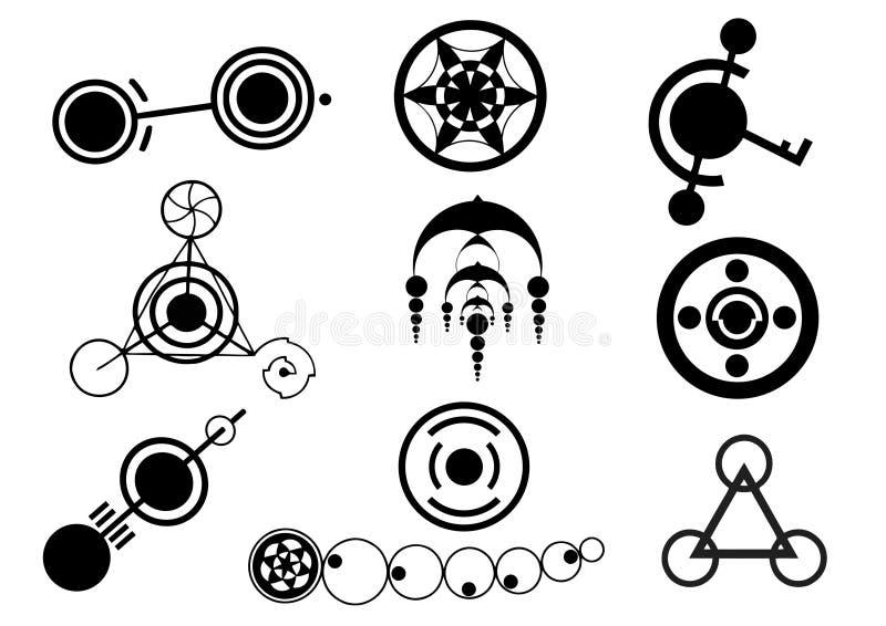 Σχέδια κύκλων συγκομιδών διανυσματική απεικόνιση
