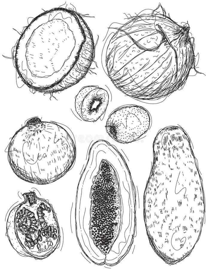 Σχέδια φρούτων διανυσματική απεικόνιση