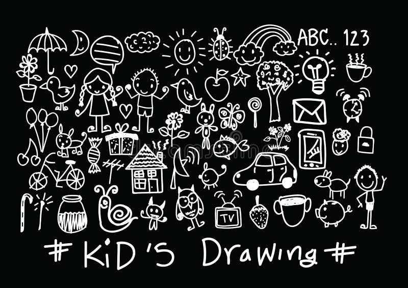Σχέδια χεριών παιδιών και των παιδιών ελεύθερη απεικόνιση δικαιώματος