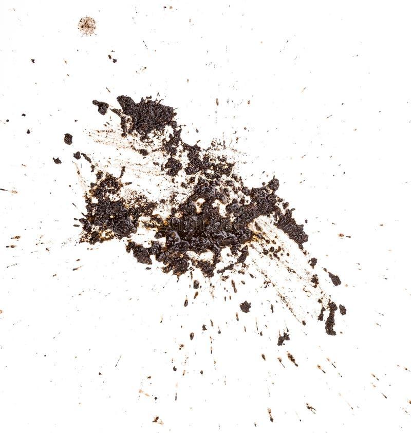 Σχέδιο λάσπης splat που απομονώνεται σε ένα άσπρο υπόβαθρο στοκ εικόνες με δικαίωμα ελεύθερης χρήσης