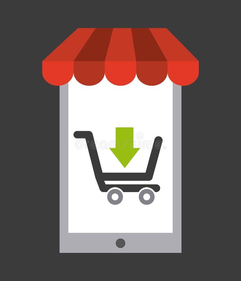 Σχέδιο έννοιας ηλεκτρονικού εμπορίου διανυσματική απεικόνιση