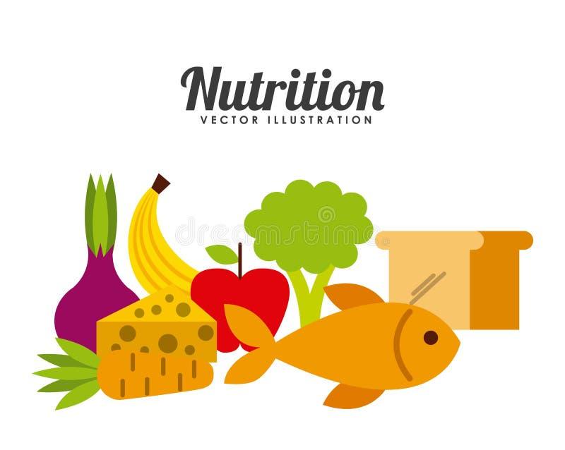 Σχέδιο έννοιας διατροφής απεικόνιση αποθεμάτων