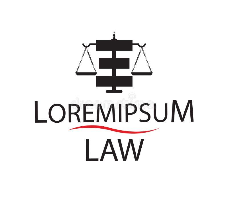 Σχέδιο έννοιας λογότυπων νόμου απεικόνιση αποθεμάτων