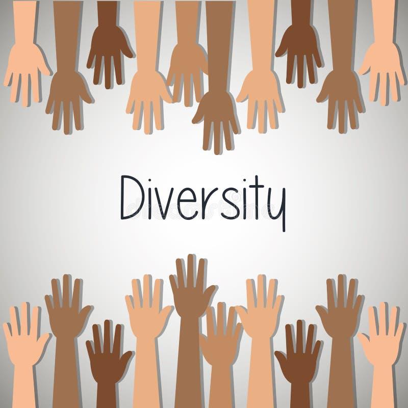 σχέδιο έννοιας ποικιλομορφίας ελεύθερη απεικόνιση δικαιώματος