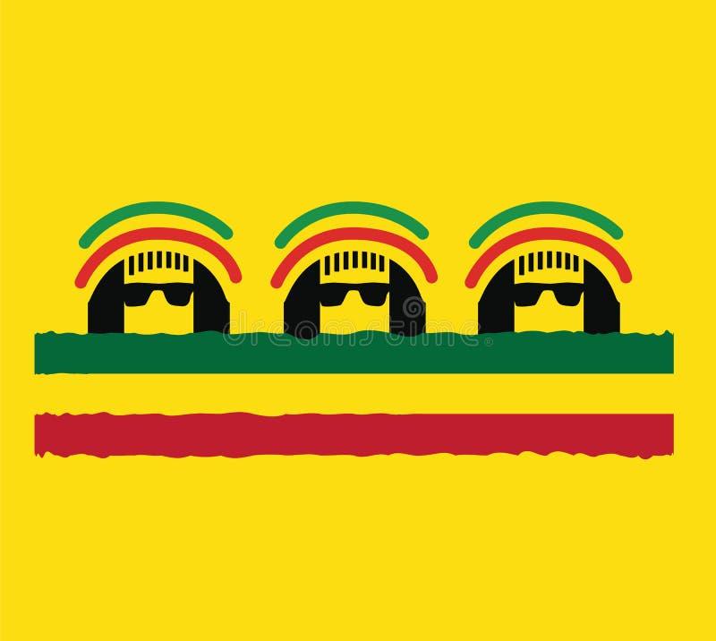 Σχέδιο έννοιας πολιτισμού Reggae απεικόνιση αποθεμάτων