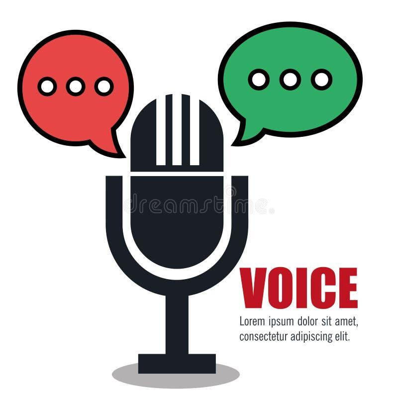 σχέδιο έννοιας φωνής απεικόνιση αποθεμάτων