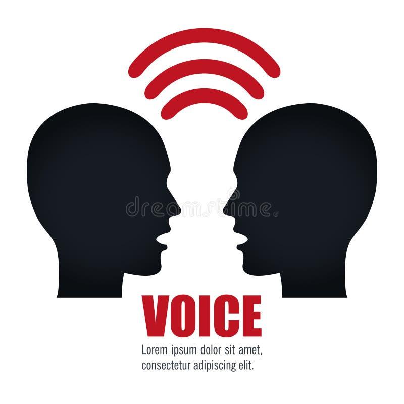 σχέδιο έννοιας φωνής ελεύθερη απεικόνιση δικαιώματος
