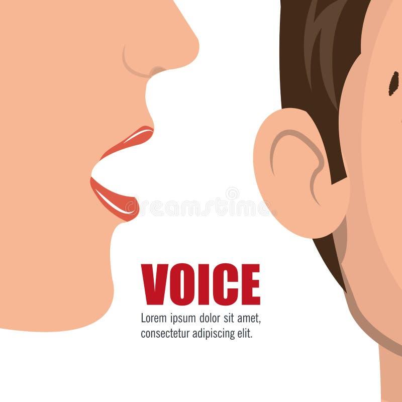 σχέδιο έννοιας φωνής διανυσματική απεικόνιση