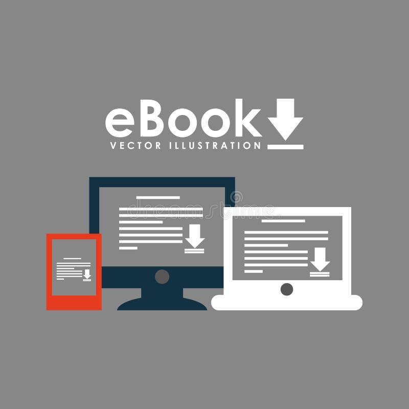 Σχέδιο έννοιας EBook διανυσματική απεικόνιση