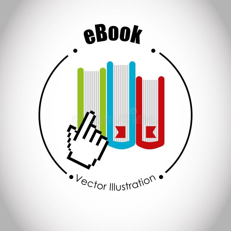 Σχέδιο έννοιας EBook απεικόνιση αποθεμάτων