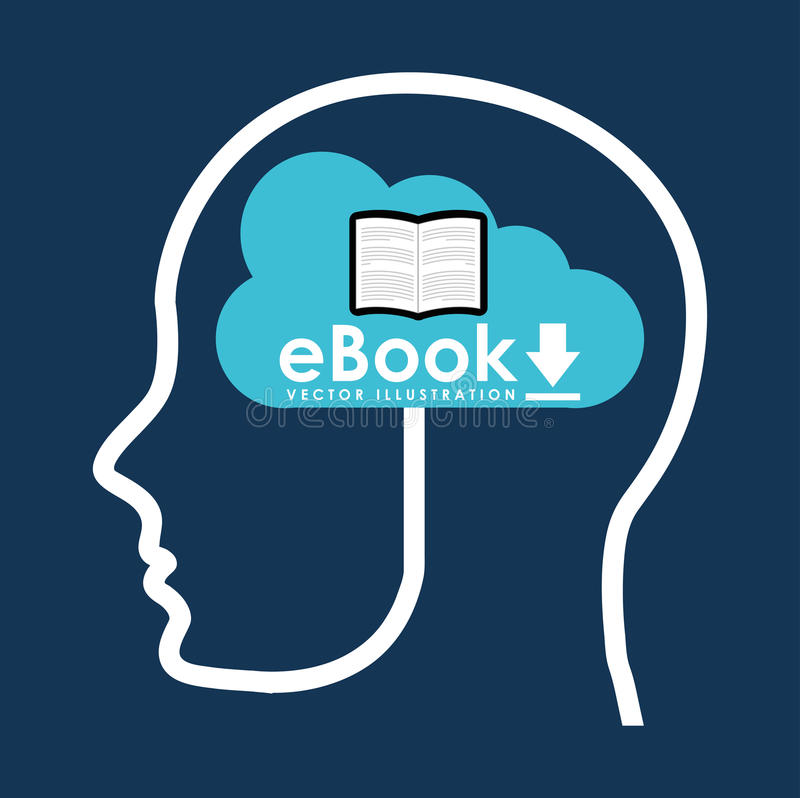 Σχέδιο έννοιας EBook ελεύθερη απεικόνιση δικαιώματος