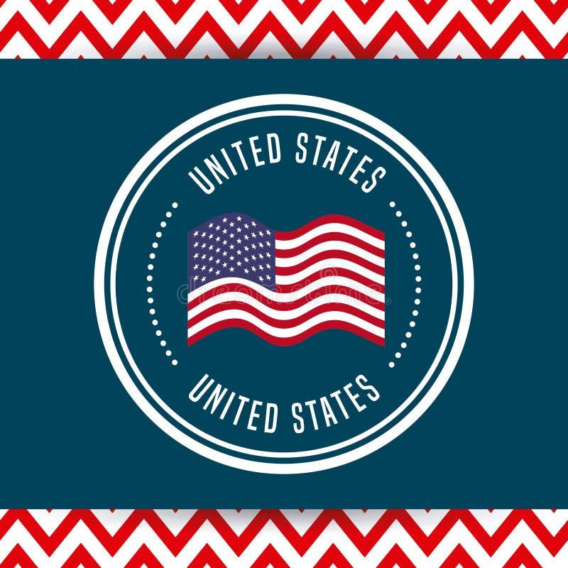 Σχέδιο αμερικανικών εμβλημάτων διανυσματική απεικόνιση