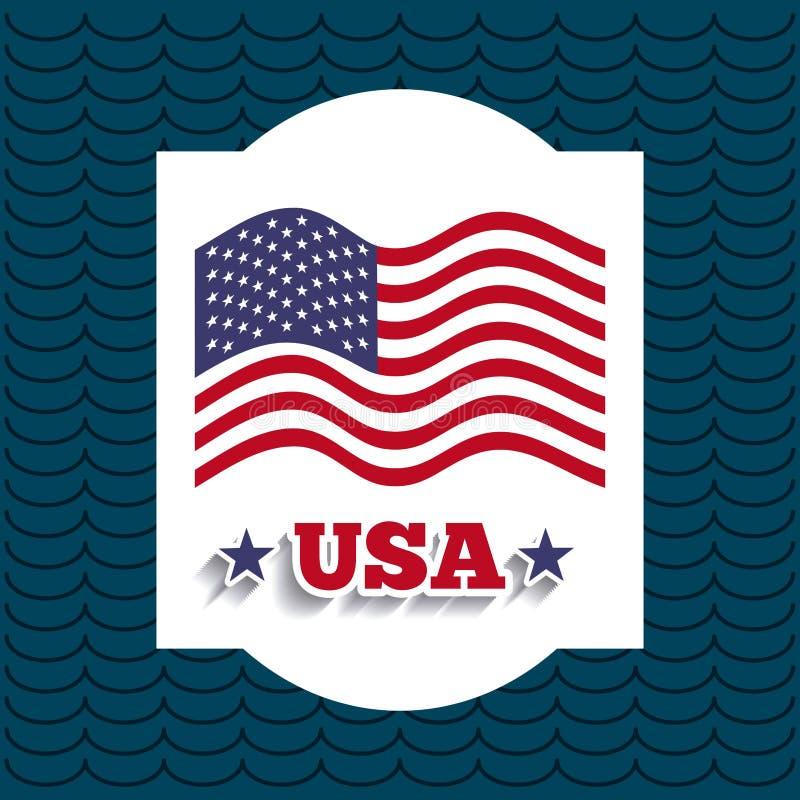 Σχέδιο αμερικανικών εμβλημάτων απεικόνιση αποθεμάτων