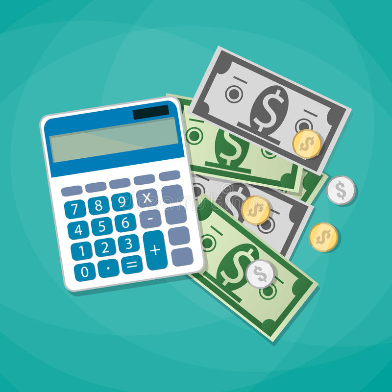 Σχέδιο δαπανών υπολογισμού απεικόνιση αποθεμάτων