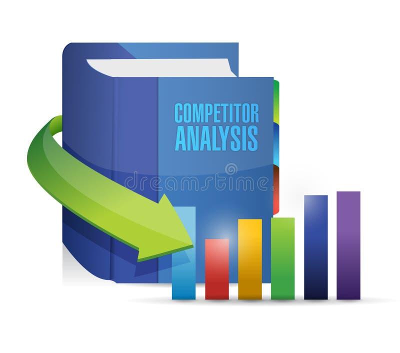 Σχέδιο απεικόνισης βιβλίων ανάλυσης ανταγωνιστών διανυσματική απεικόνιση