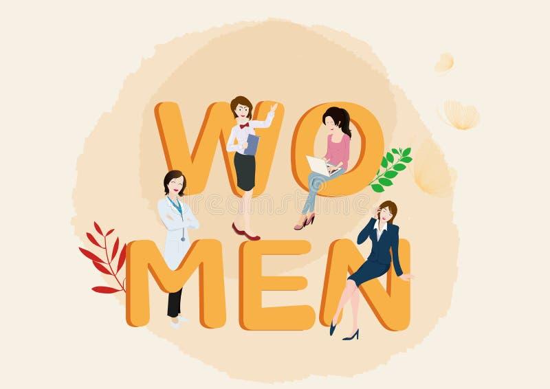 Σχέδιο απεικόνισης ημέρας γυναικών ` s στοκ εικόνα