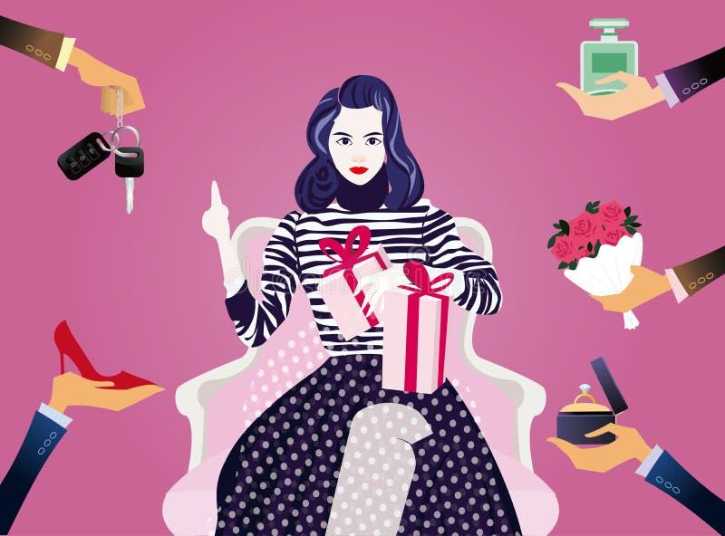 Σχέδιο απεικόνισης ημέρας γυναικών ` s στοκ εικόνα με δικαίωμα ελεύθερης χρήσης