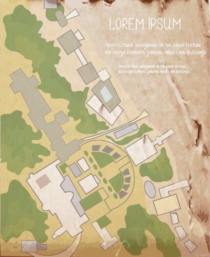 Σχέδιο αρχιτεκτονικής για την εκλεκτής ποιότητας σύσταση ελεύθερη απεικόνιση δικαιώματος