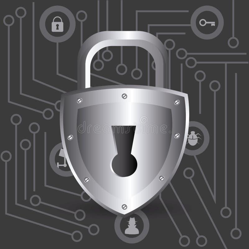 Σχέδιο ασφάλειας, διανυσματική απεικόνιση απεικόνιση αποθεμάτων