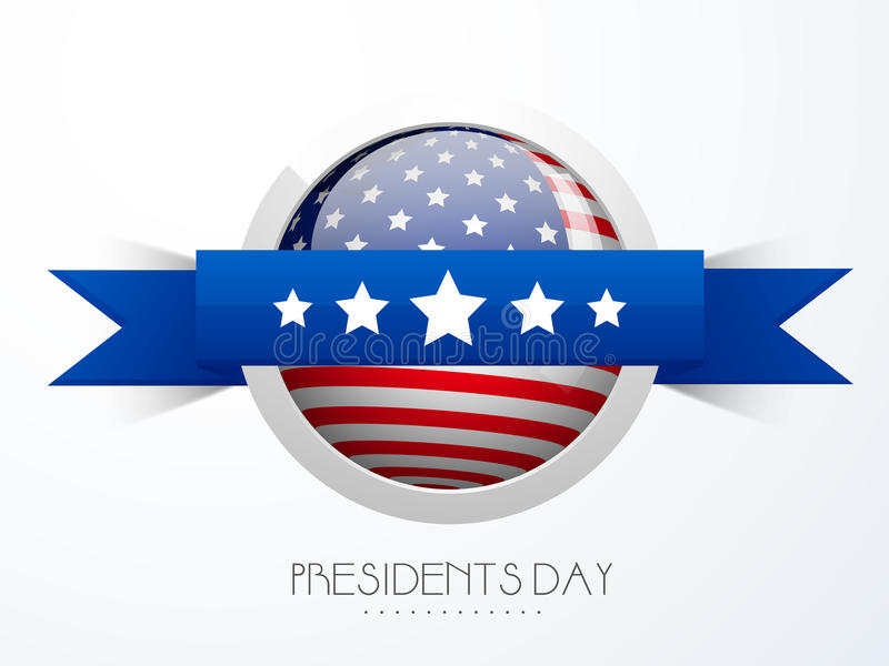 Σχέδιο αυτοκόλλητων ετικεττών ή ετικετών για τον αμερικανικό εορτασμό Προέδρων Day διανυσματική απεικόνιση