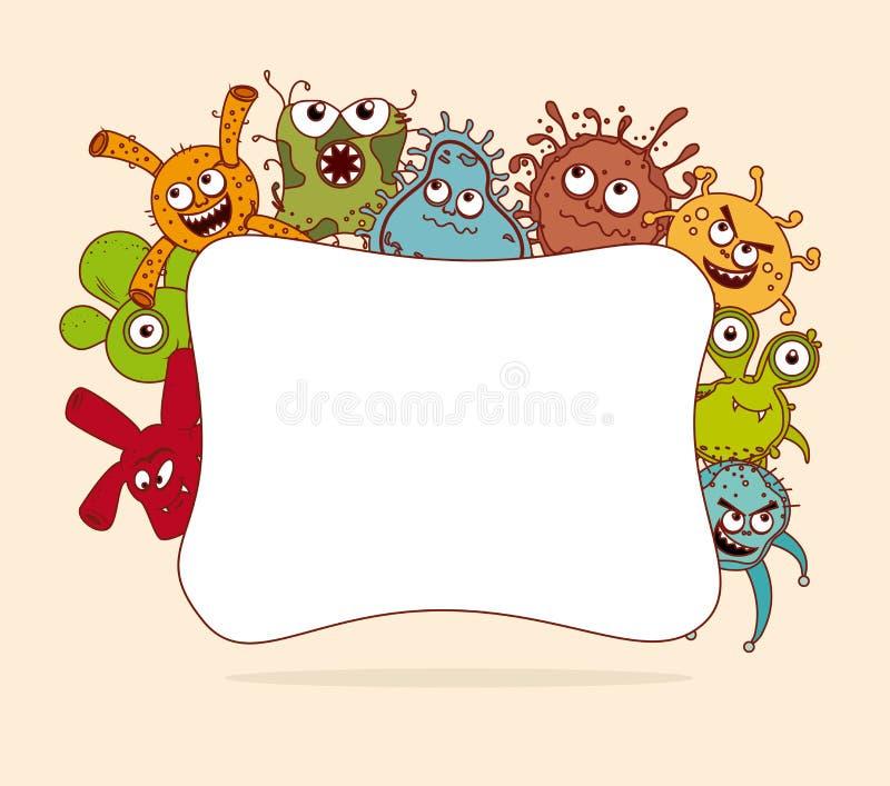 Σχέδιο βακτηριδίων απεικόνιση αποθεμάτων