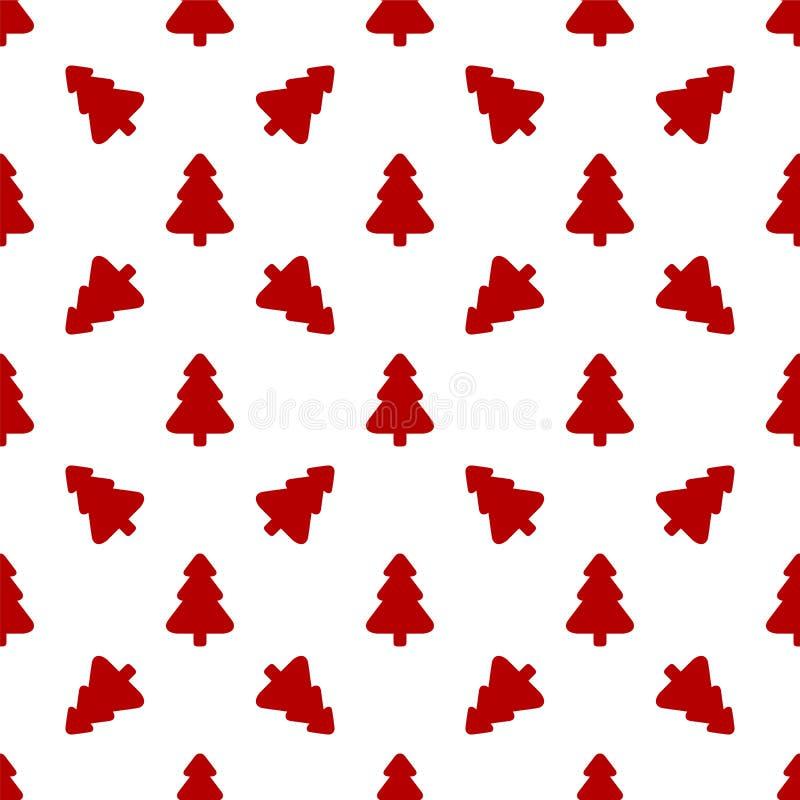 Σχέδιο για το τυλίγοντας έγγραφο Κόκκινο χριστουγεννιάτικο δέντρο απεικόνιση αποθεμάτων