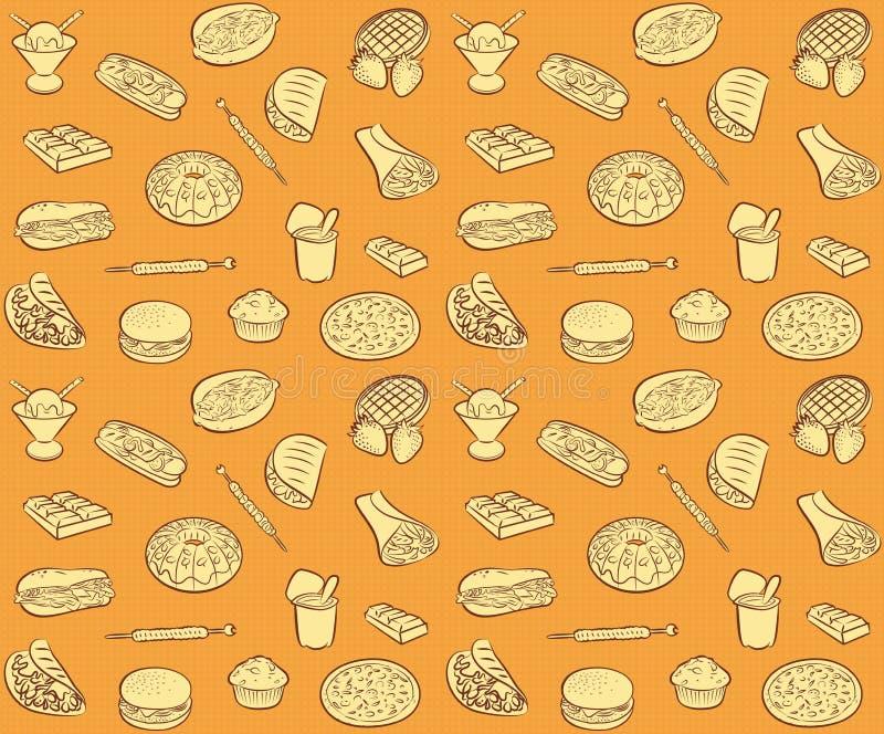 Σχέδιο γρήγορου γεύματος ελεύθερη απεικόνιση δικαιώματος